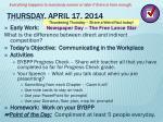thursday april 17 2014