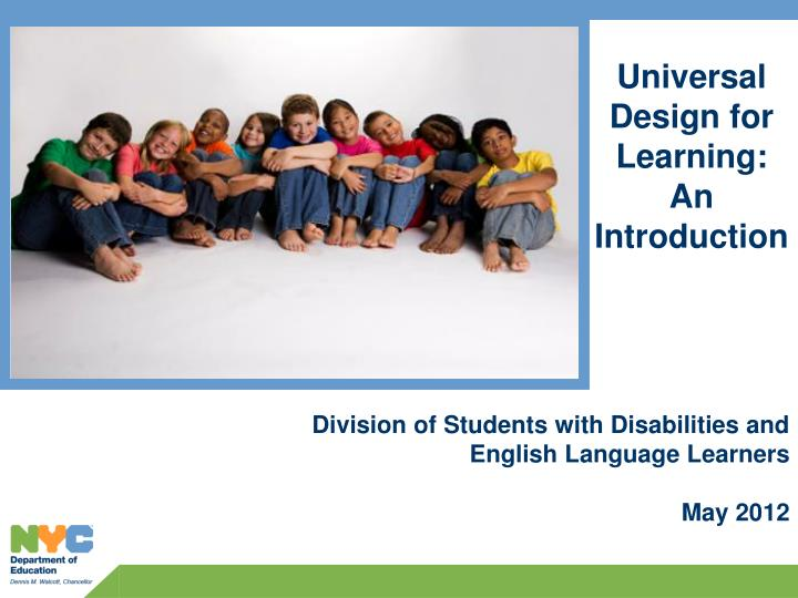 universal design for learning an introduction n.