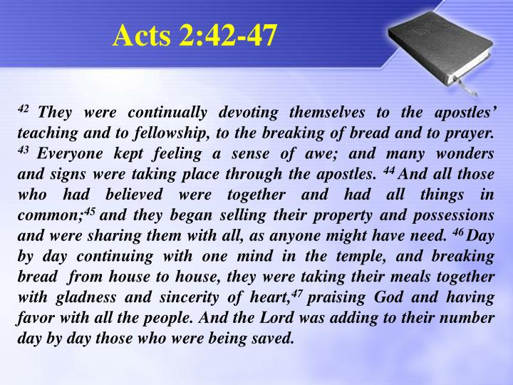 Acts 2 42 47