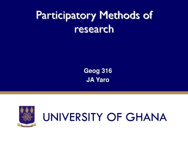 participatory methods Full-text paper (pdf): participatory methods for water resources planning.