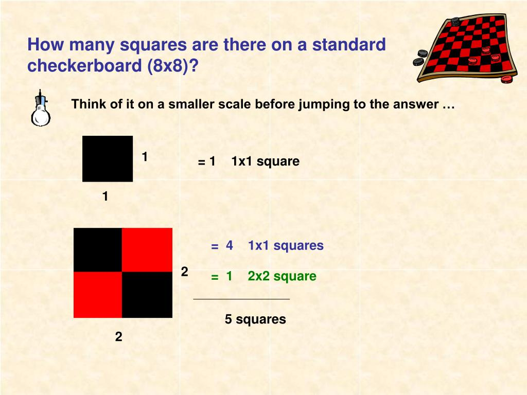PPT - How many squares are there on a standard checkerboard