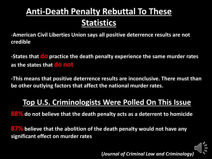 death penalty gives deterrent effect fo Capital punishment and deterrence: capital punishment and deterrence: conflicting estimates of the deterrent effect of the death penalty reported.
