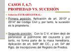 casos 5 6 7 propiedad vs sucesi n