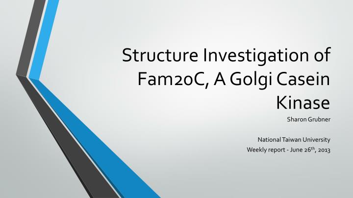 structure investigation of fam20c a golgi casein kinase n.