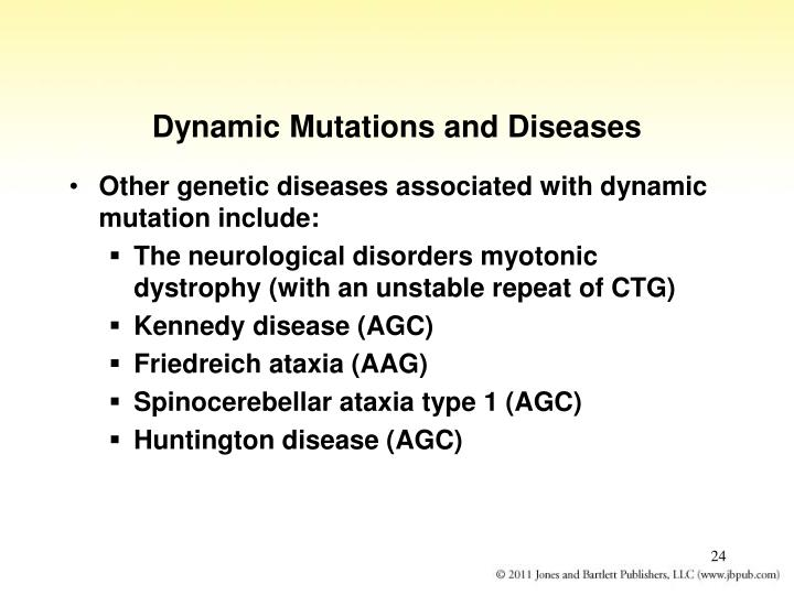 Dynamic Mutations and Diseases