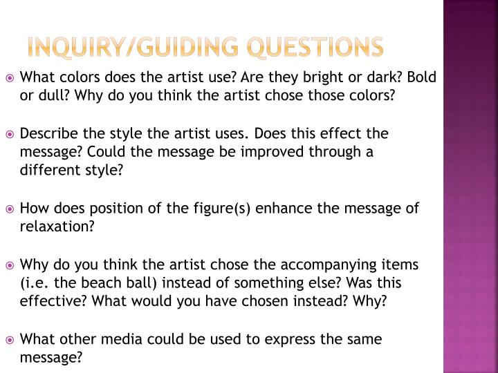 Inquiry/Guiding Questions