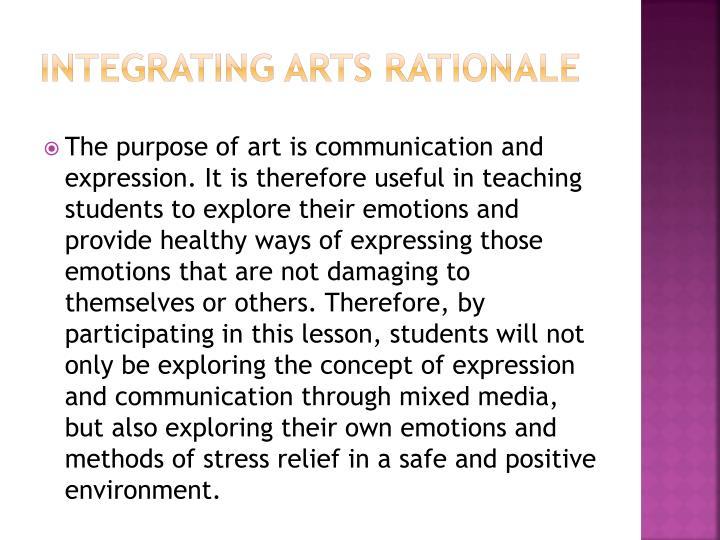 Integrating Arts Rationale
