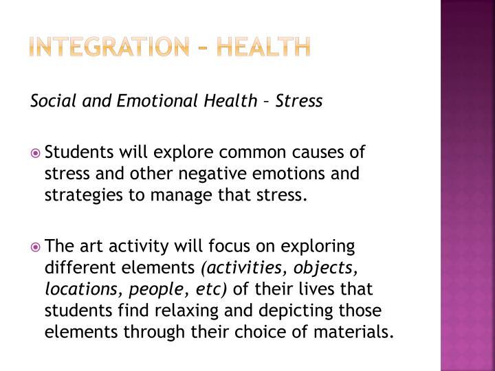 Integration – Health