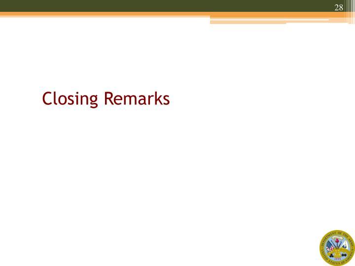 Closing Remarks