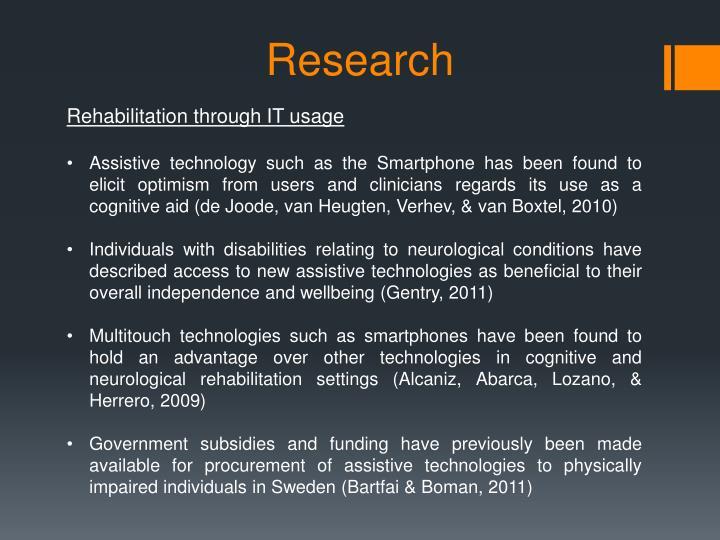 Rehabilitation through IT usage