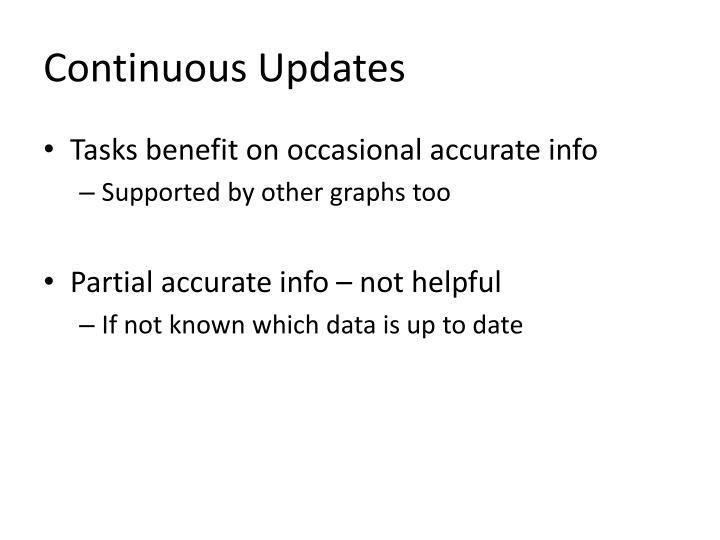 Continuous Updates
