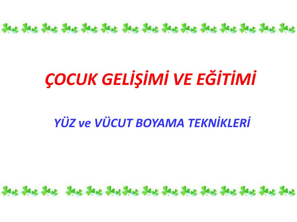 Ppt Cocuk Gelisimi Ve Egitimi Powerpoint Presentation Free