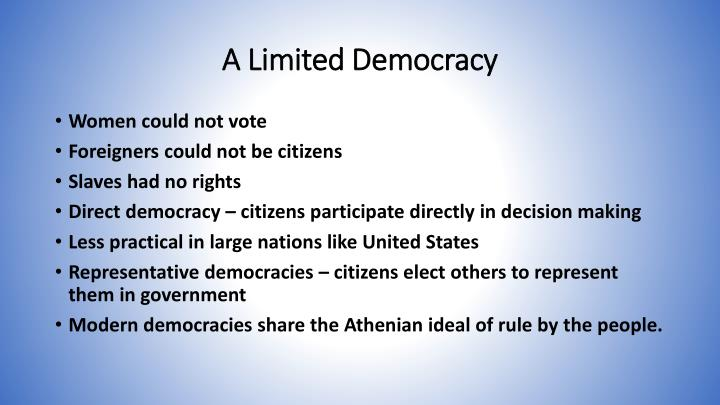 A Limited Democracy