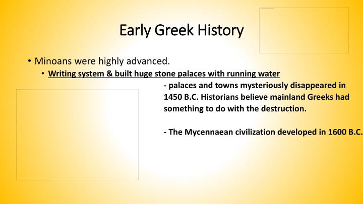 Early Greek History