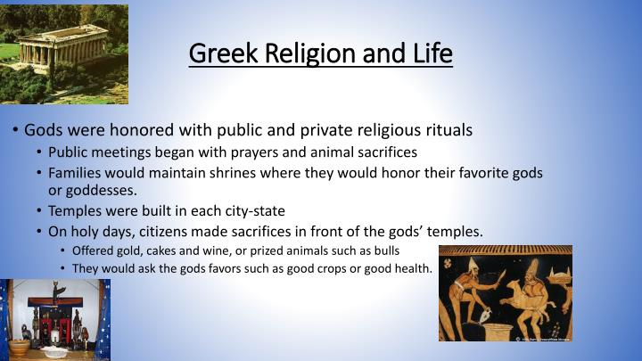 Greek Religion and Life