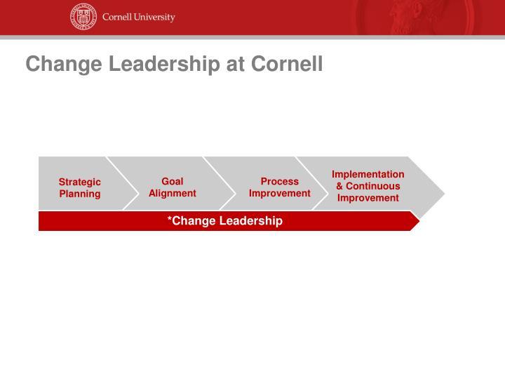 Change Leadership at Cornell