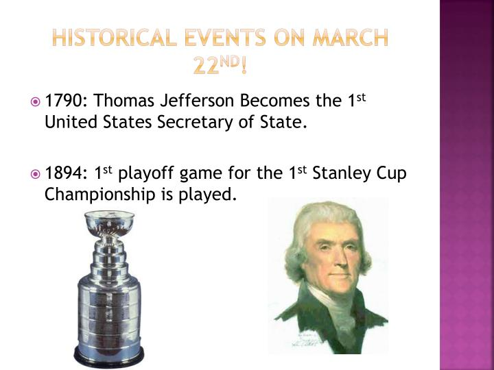 Historical events on march 22