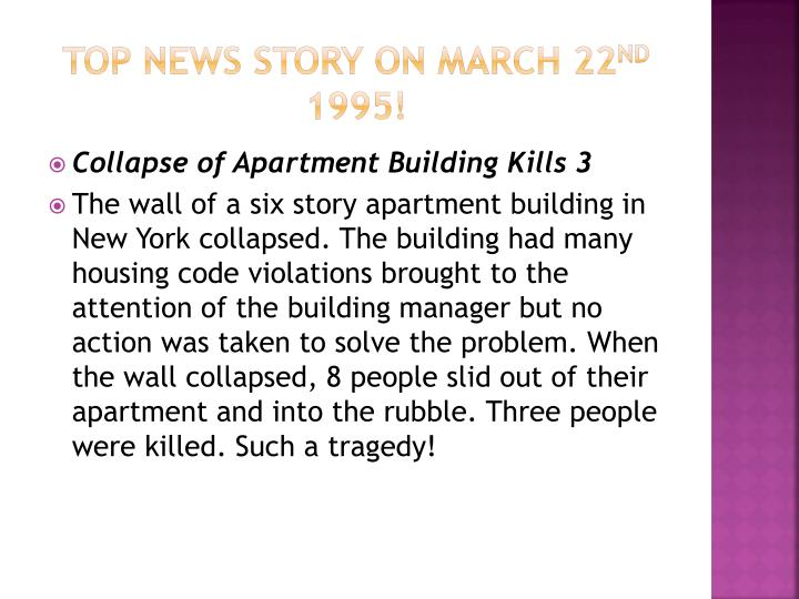 Top news story on march 22