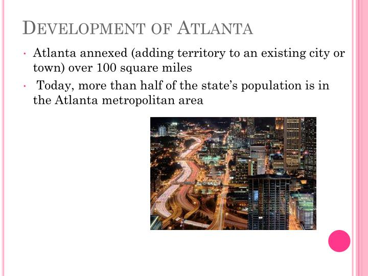 Development of Atlanta