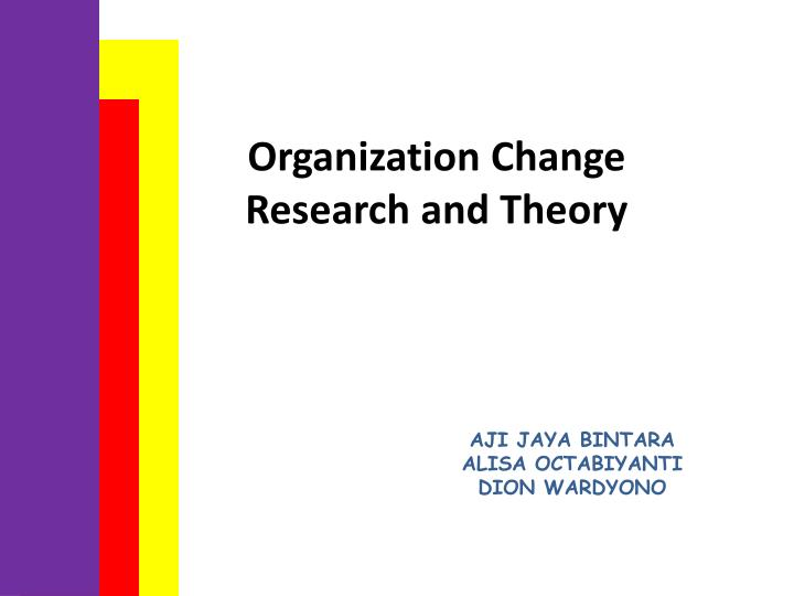 organization change research and theory n.