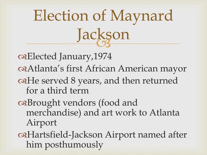 Election of Maynard Jackson
