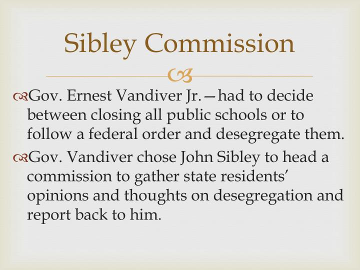 Sibley Commission