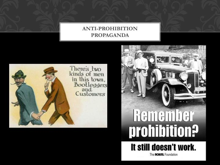 the backlash of prohibition January 8, 2018 attorney general jeff sessions has stated that he intends to return to the rule of law, starting a new era of 1920s-type prohibition in the.