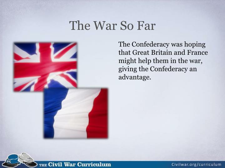 The war so far1