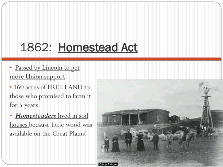Ppt 1862 Homestead Act Powerpoint Presentation Id 2438388