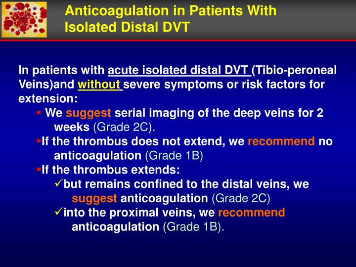 Anticoagulation in Patients With