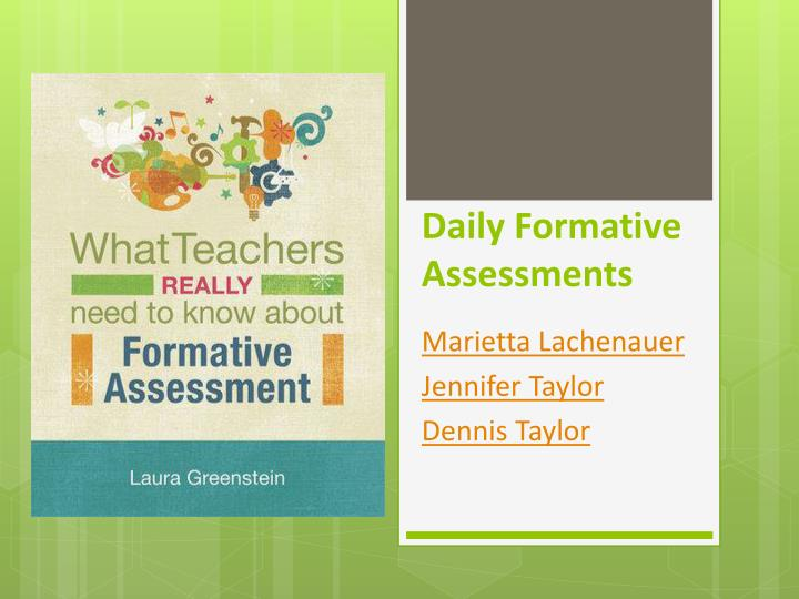 daily formative assessments n.