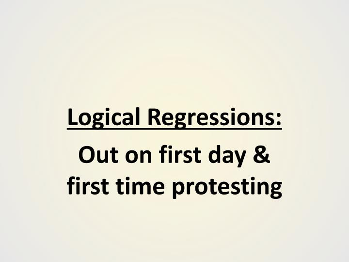 Logical Regressions: