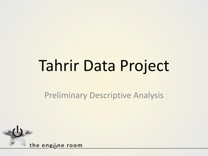 Tahrir data project
