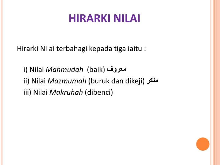 HIRARKI NILAI