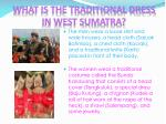 what is the traditional dress in west sumatra
