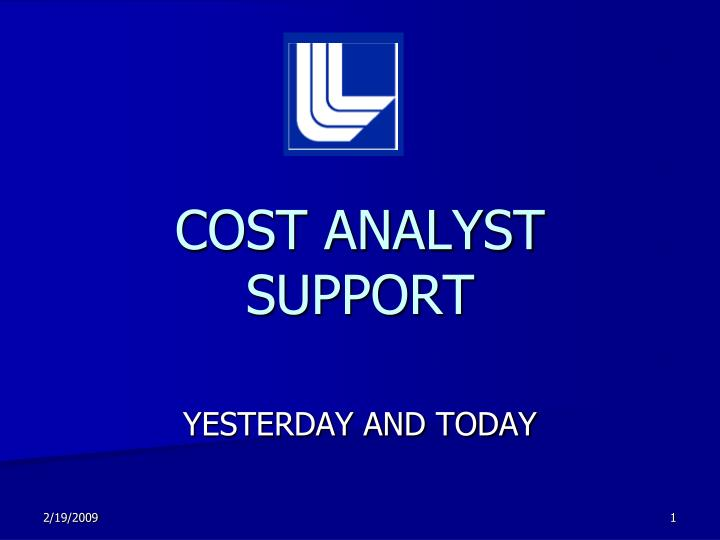 cost analyst support n.