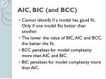 aic bic and bcc1