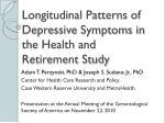 longitudinal patterns of depressive symptoms in the health and retirement study