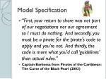 model specification1