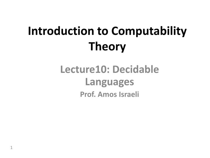 introduction to computability theory n.