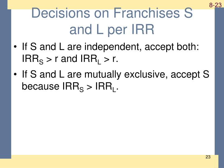 Decisions on Franchises S