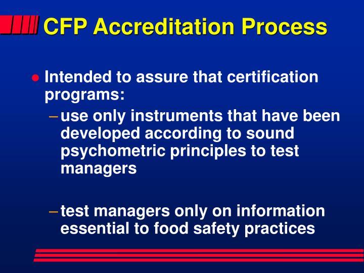 CFP Accreditation Process