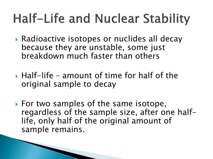 Half-Life and Nuclear Stability