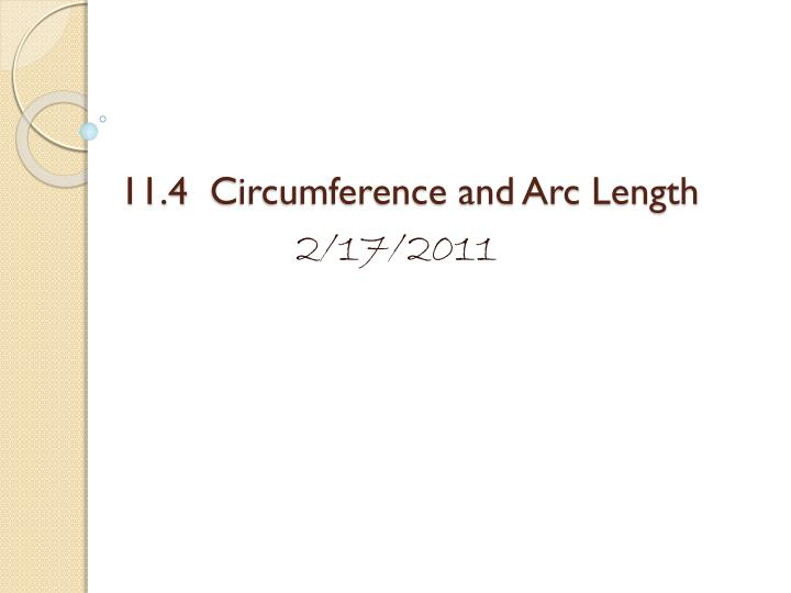 11 4 circumference and arc length n.