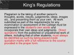 king s regulations