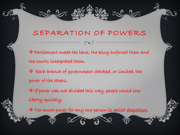 an introduction to the importance of separation of powers in the united states From the ancien régime to the revolution, the same state survived  the role of  the judiciary in the separation of powers was not, therefore, the direct subject.