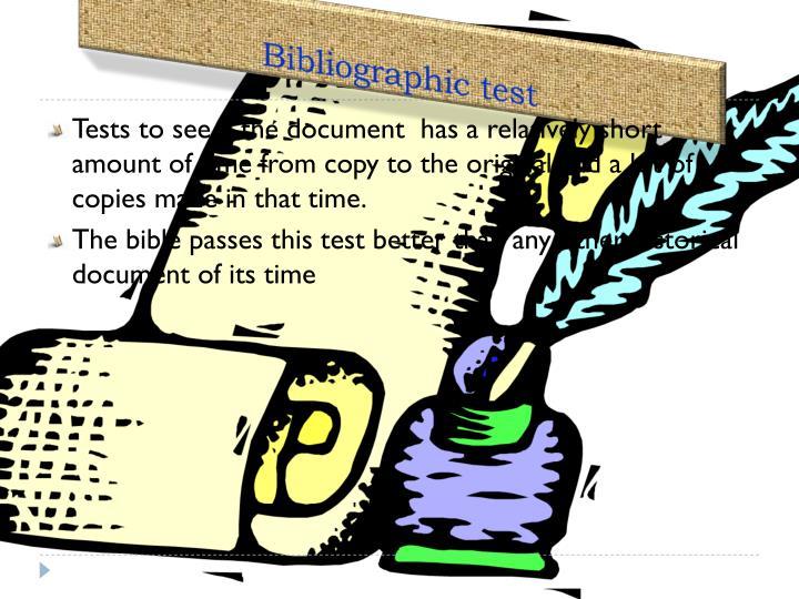 Bibliographic test