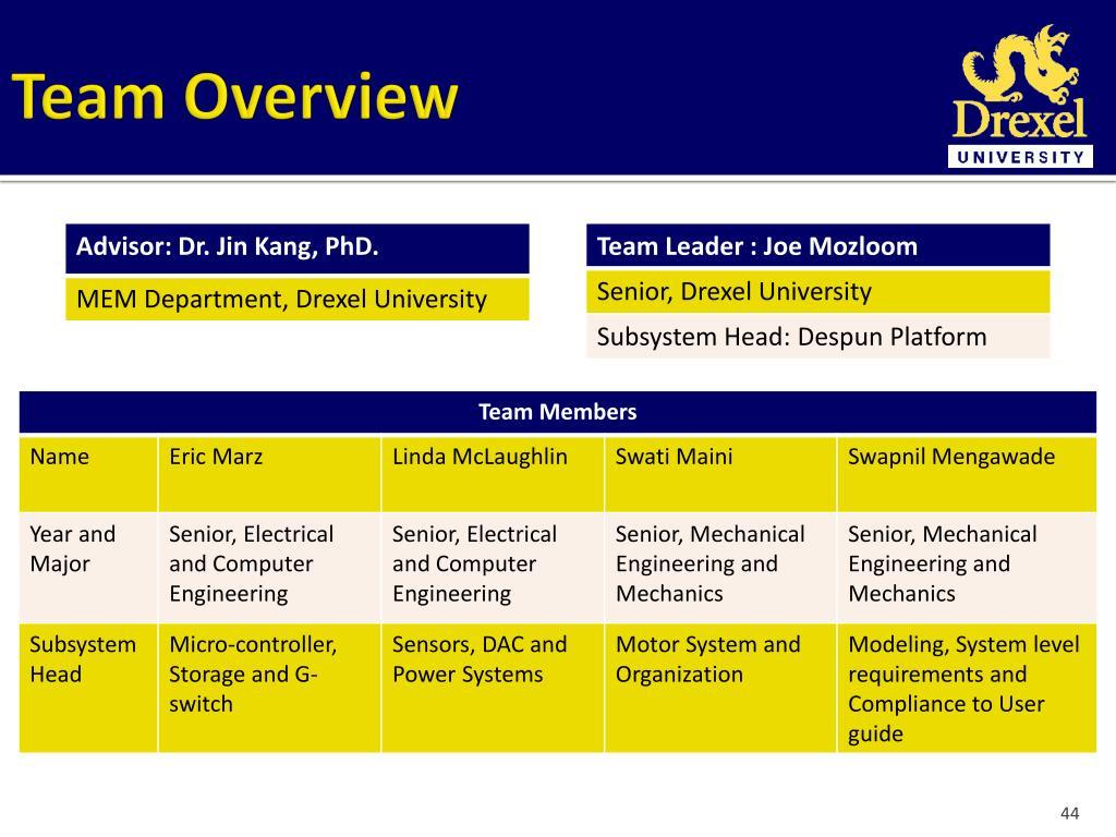 PPT - Drexel University 2010-2011 RockSat-C Preliminary
