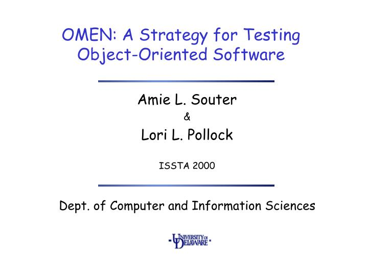 omen a strategy for testing object oriented software n.