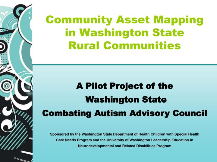 community asset mapping in washington state rural communities n.